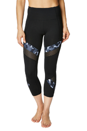 Betsey Johnson Camo & Mesh Detail Crop leggings - Product Mini Image