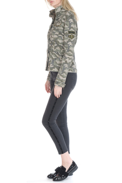 Bianco Jeans Camo Military Jacket w Patches - Alternate List Image