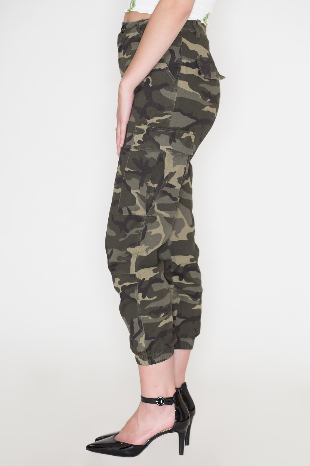 Wild Honey Camo Military Pants - Side Cropped Image