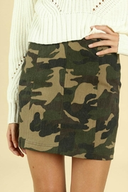 Pretty Little Things Camo Mini Skirt - Product Mini Image