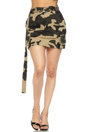hot and delicious Camo Mini Skirt - Product Mini Image