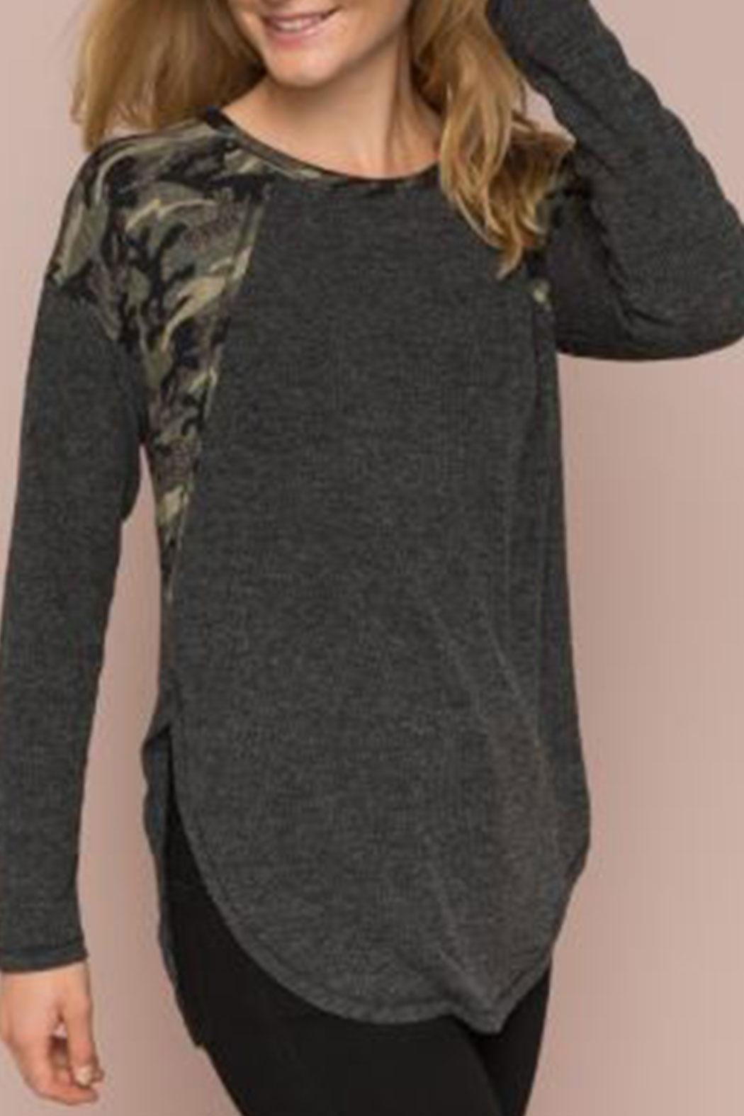 2d6a00bc06c165 Hem   Thread Camo-Mixed Ribbed Top from Pennsylvania by The Hanger ...