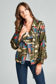 Racine Camo Moto Jacket - Product Mini Image