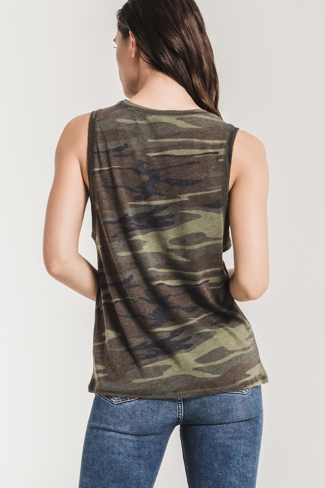 z supply Camo Muscle Tank - Side Cropped Image