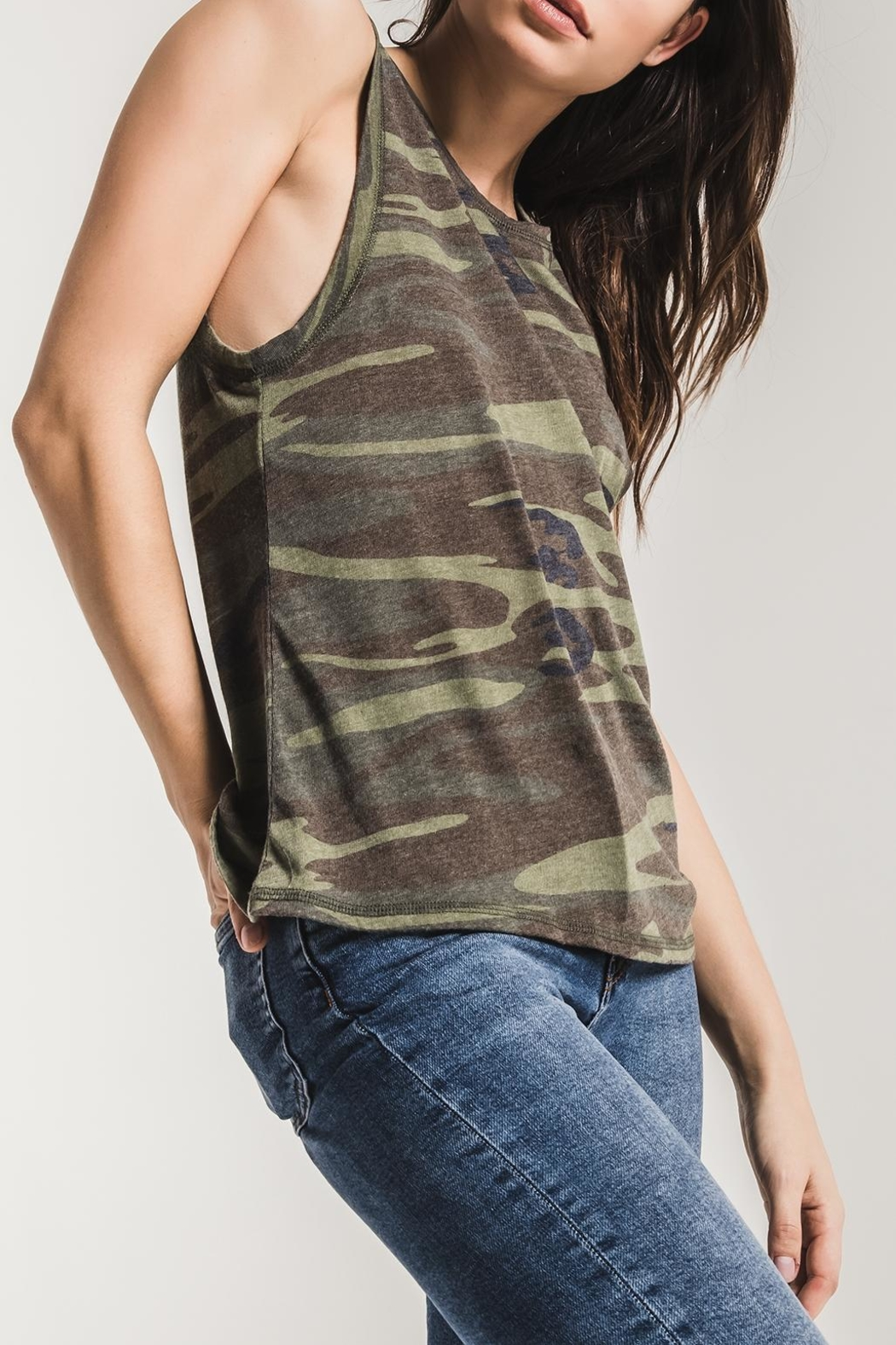 z supply Camo Muscle Tank - Back Cropped Image