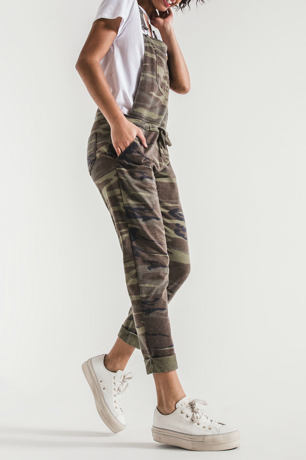 z supply Camo Overalls - Front Full Image