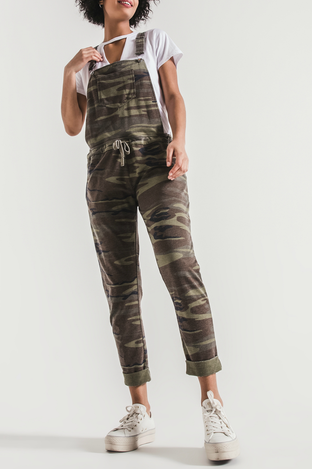 z supply Camo Overalls - Front Cropped Image