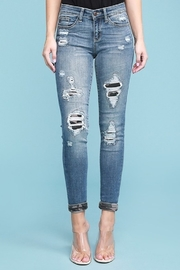 Judy Blue Camo Patch Skinny Jean - Front cropped