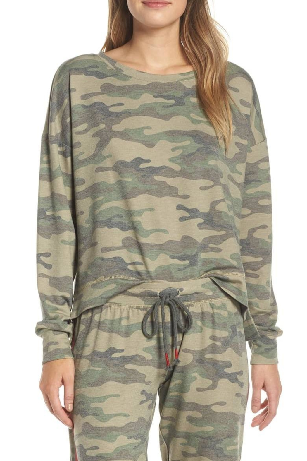 PJ Salvage Camo Pj Top - Front Cropped Image