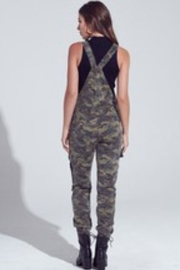 blue blush Camo Pocket Detailed Jogger Overalls - Front full body