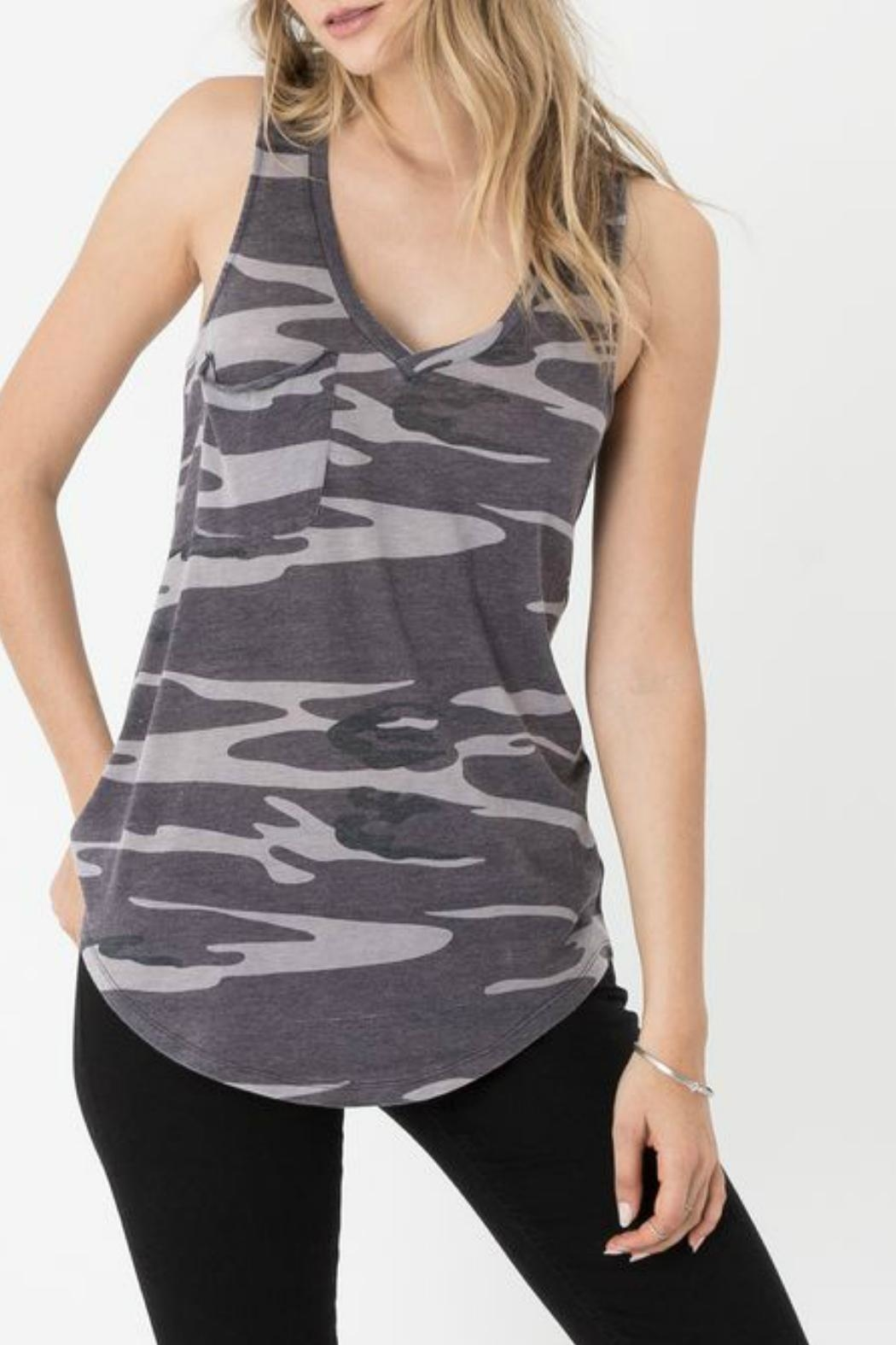 z supply Camo Pocket Racer Back Tank - Front Cropped Image