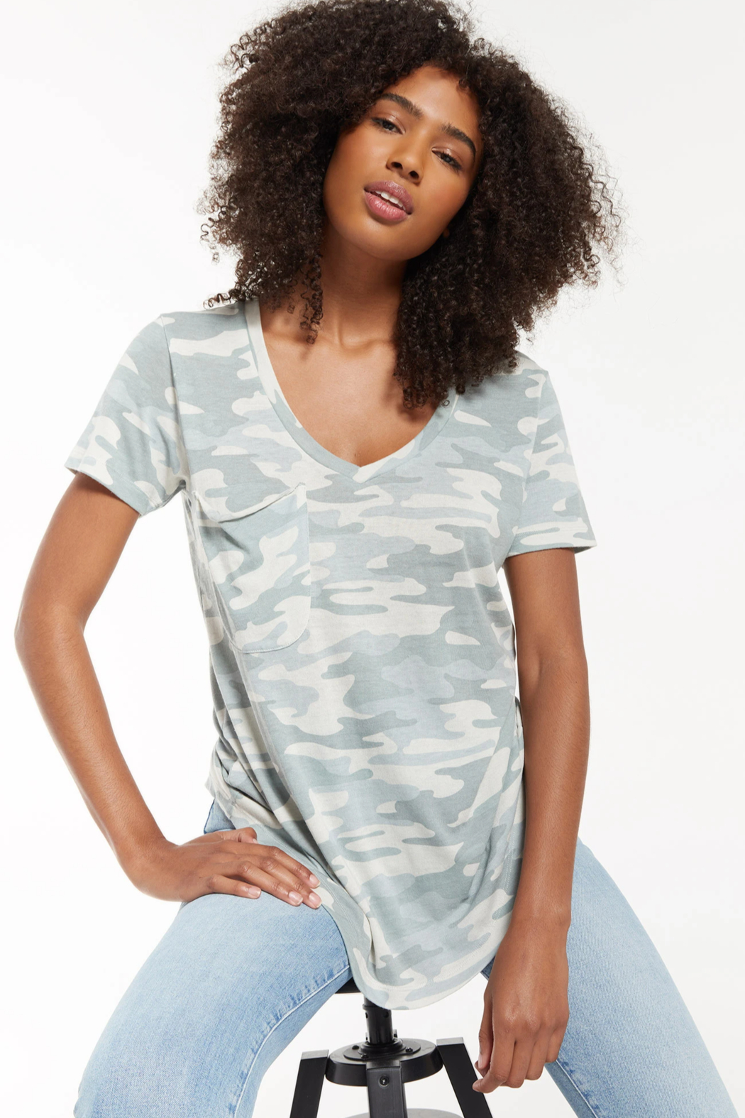 z supply Camo Pocket Tee - Side Cropped Image