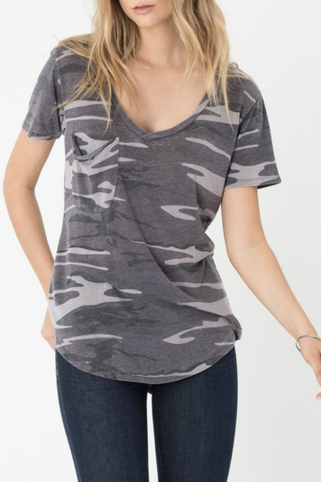 z supply Camo Pocket Tee - Front Cropped Image