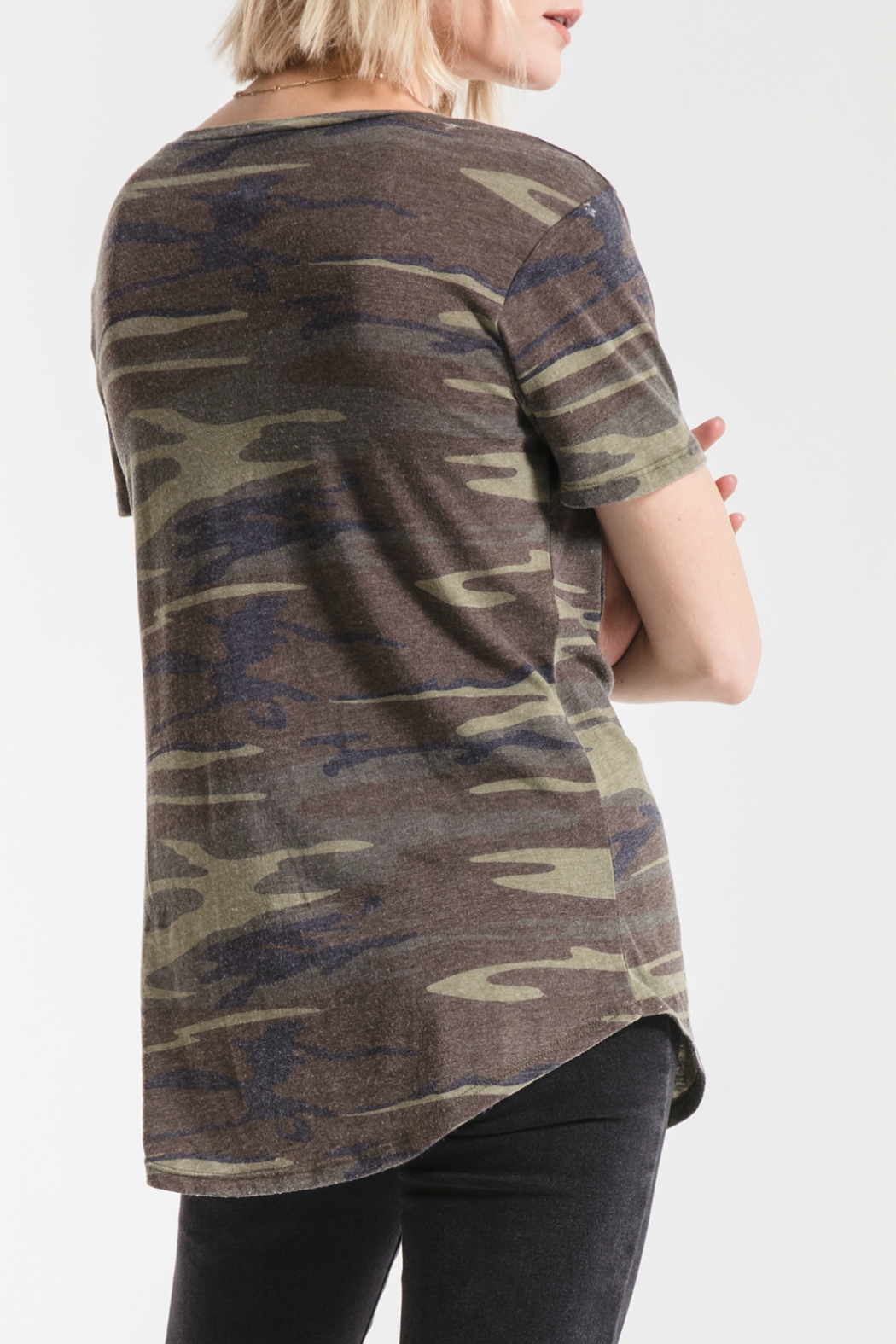 z supply Camo Pocket Tee - Back Cropped Image