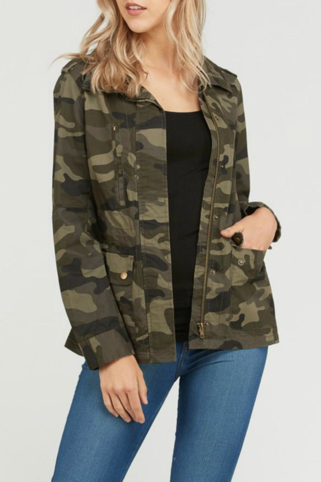 Love Tree Camo Print Anorak - Main Image