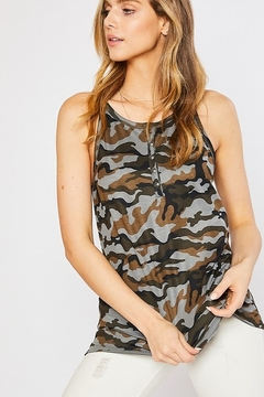 Mittoshop Camo Print Button Down Knit Top - Product List Image