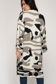 She and Sky Camo Print Cardigan - Front full body