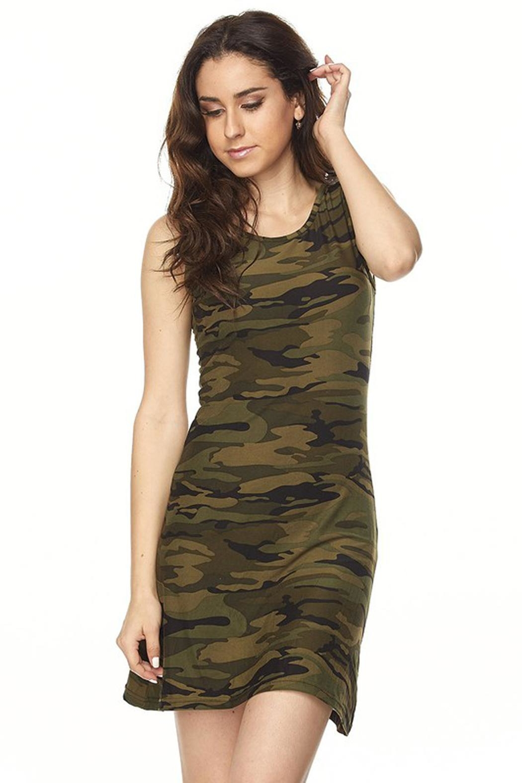 Ambiance Camo Print Dress - Main Image