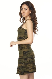 Ambiance Camo Print Dress - Front full body