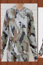 Fate Inc. Camo Print Hooded Sweatshirt - Front cropped