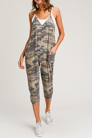 Wasabi + Mint Camo Print Jumpsuit - Product Mini Image