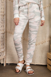 143 Story Camo Print Lounge Wear Jogger Pants - Front cropped
