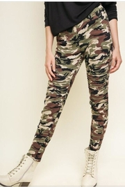 Umgee Camo Print Pants - Product Mini Image