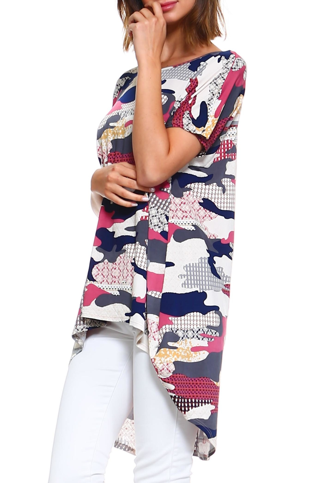 annabelle Camo Print Top - Front Full Image