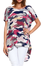 annabelle Camo Print Top - Front cropped