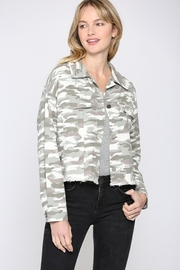Fate CAMO PRINTED CROP BOXY JACKET - Product Mini Image