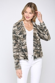 Fate CAMO PRINTED FRENCH TERRY MOTO JACKET - Product Mini Image