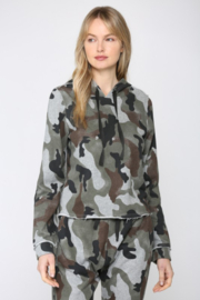 Fate  Camo Printed Hooded Sweatshirt - Front cropped