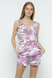 Blue B Camo Printed Sleeveless Lounge Set - Product Mini Image
