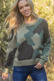 Wooden Ships Camo Pullover - Front cropped