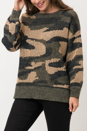 Pretty Little Things Camo Pullover Sweater - Product Mini Image