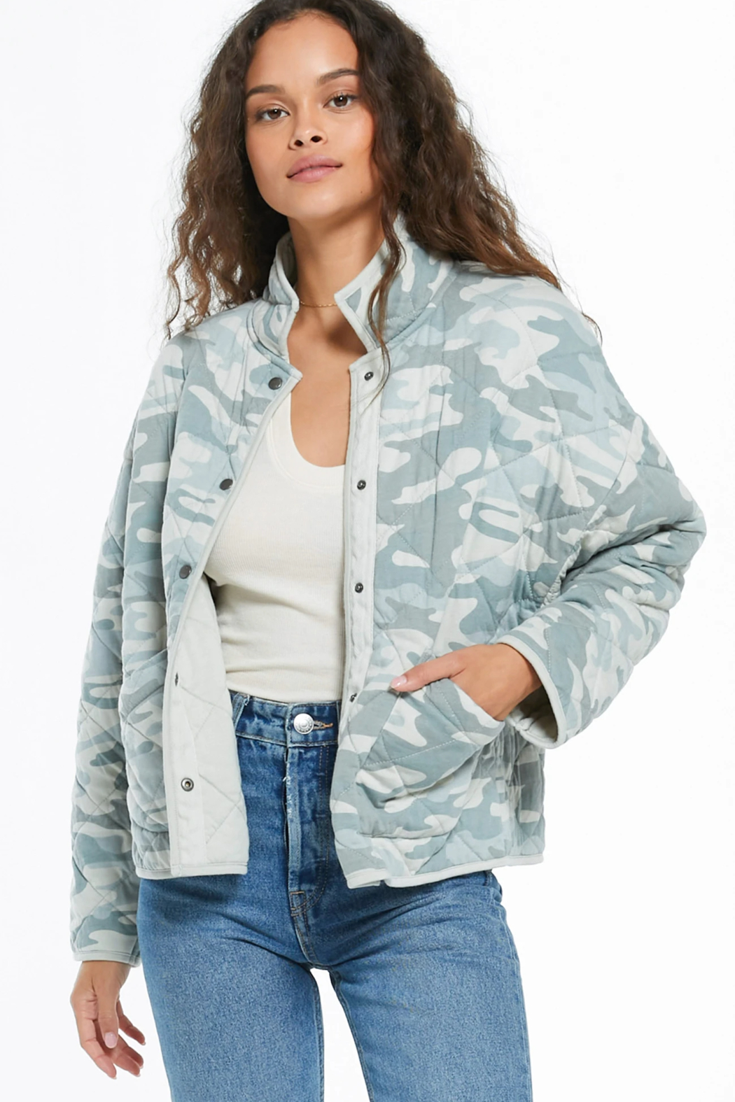 z supply Camo Quilted Jacket - Main Image