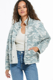 z supply Camo Quilted Jacket - Front cropped