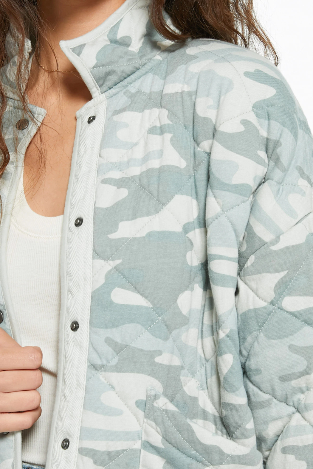 z supply Camo Quilted Jacket - Back Cropped Image