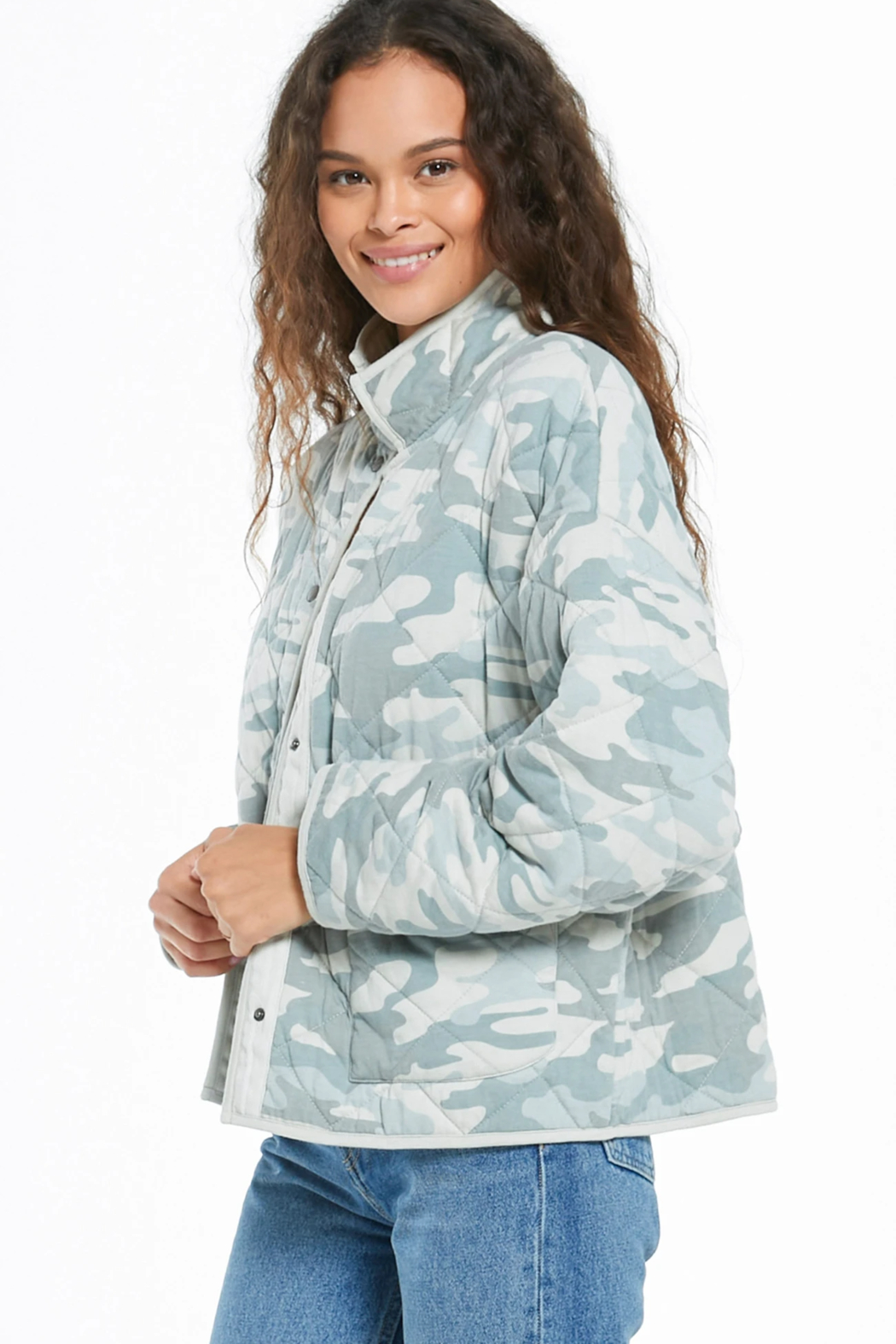 z supply Camo Quilted Jacket - Front Full Image