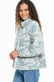 z supply Camo Quilted Jacket - Front full body