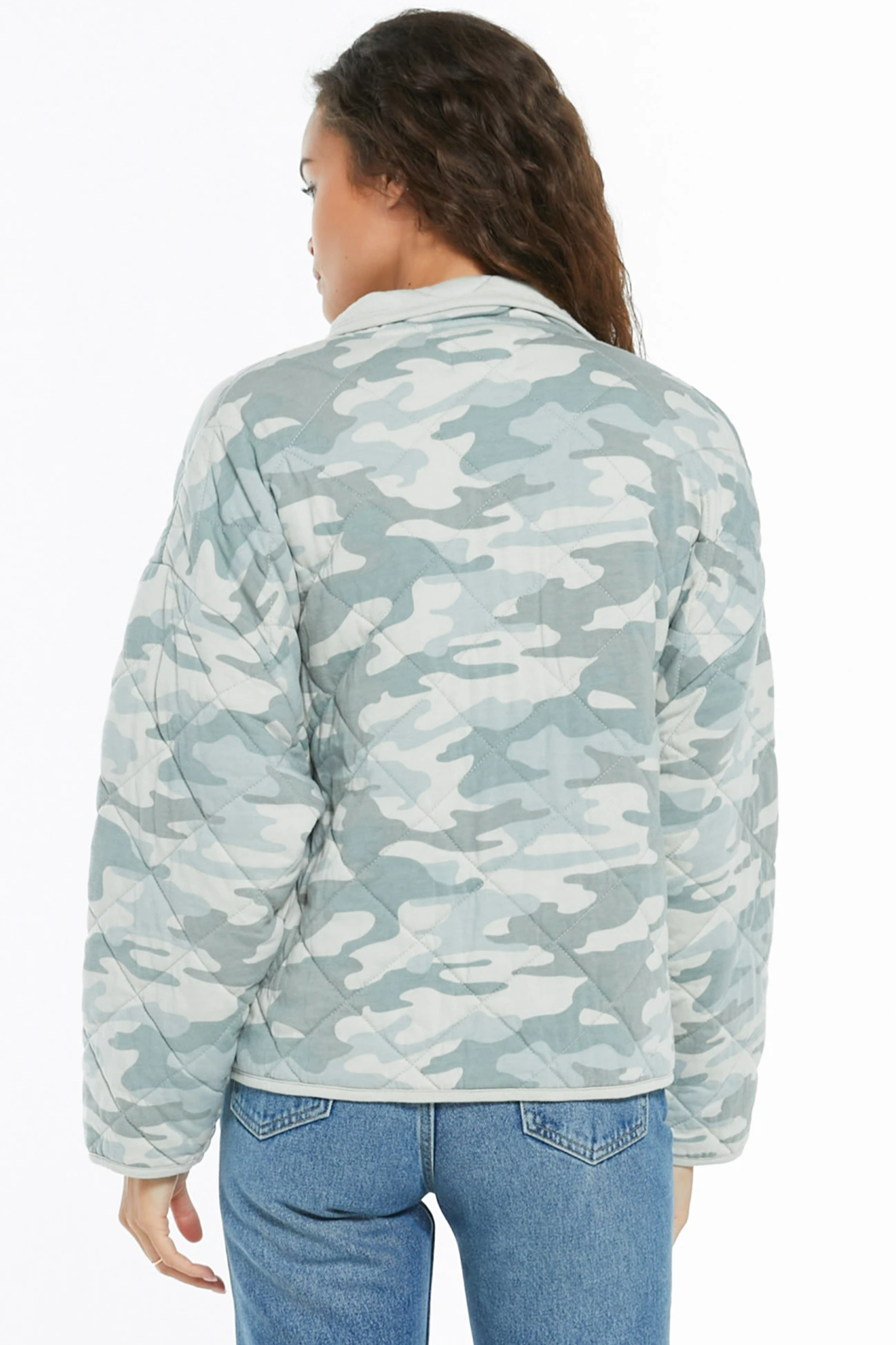 z supply Camo Quilted Jacket - Side Cropped Image