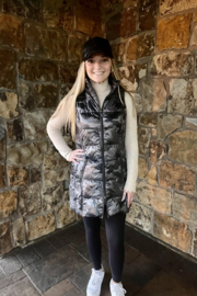 Anorak  Camo Quilted Long Vest - Product Mini Image