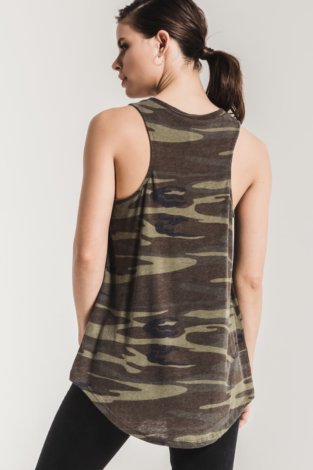 z supply Camo Racer Tank - Front Full Image
