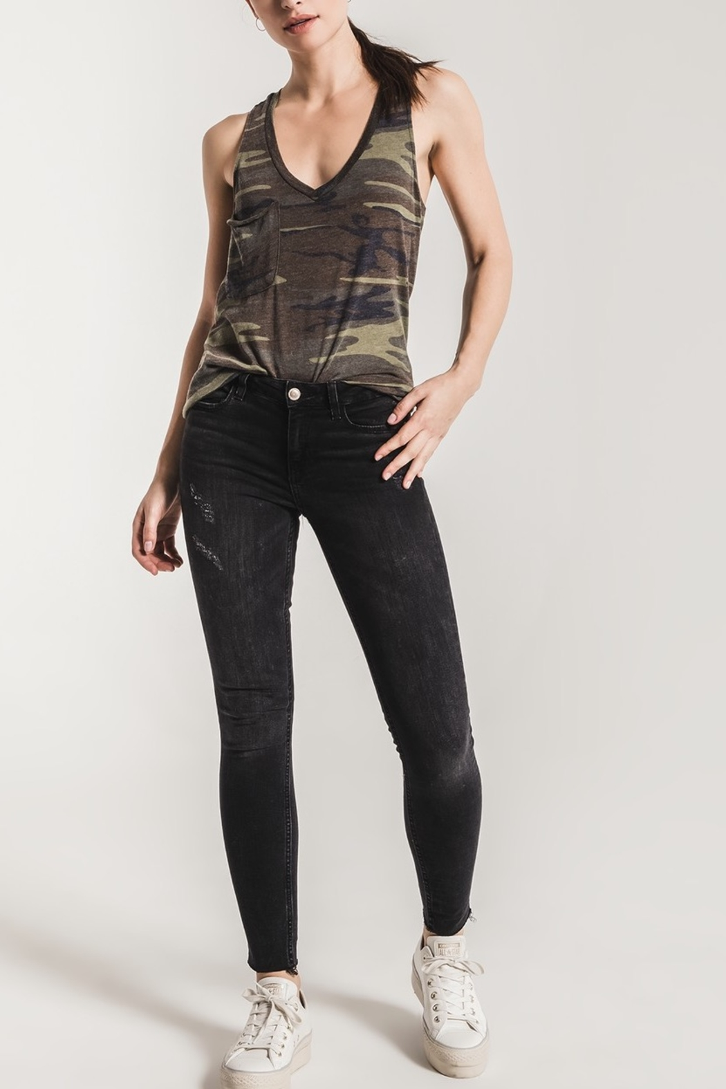 z supply Camo Racer Tank - Front Cropped Image