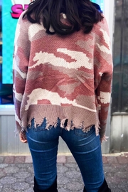 Fascination Camo Ripped Sweater - Front full body