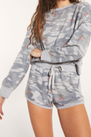 z supply Camo Rose Shorts - Front full body