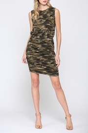 Fate Camo Ruched Dress - Product Mini Image