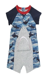 Mud Pie Camo Shark Snao - Front cropped