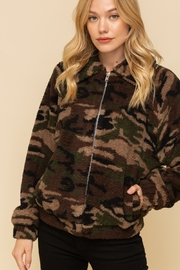 Hem and Thread Camo Sherpa Jacket - Product Mini Image