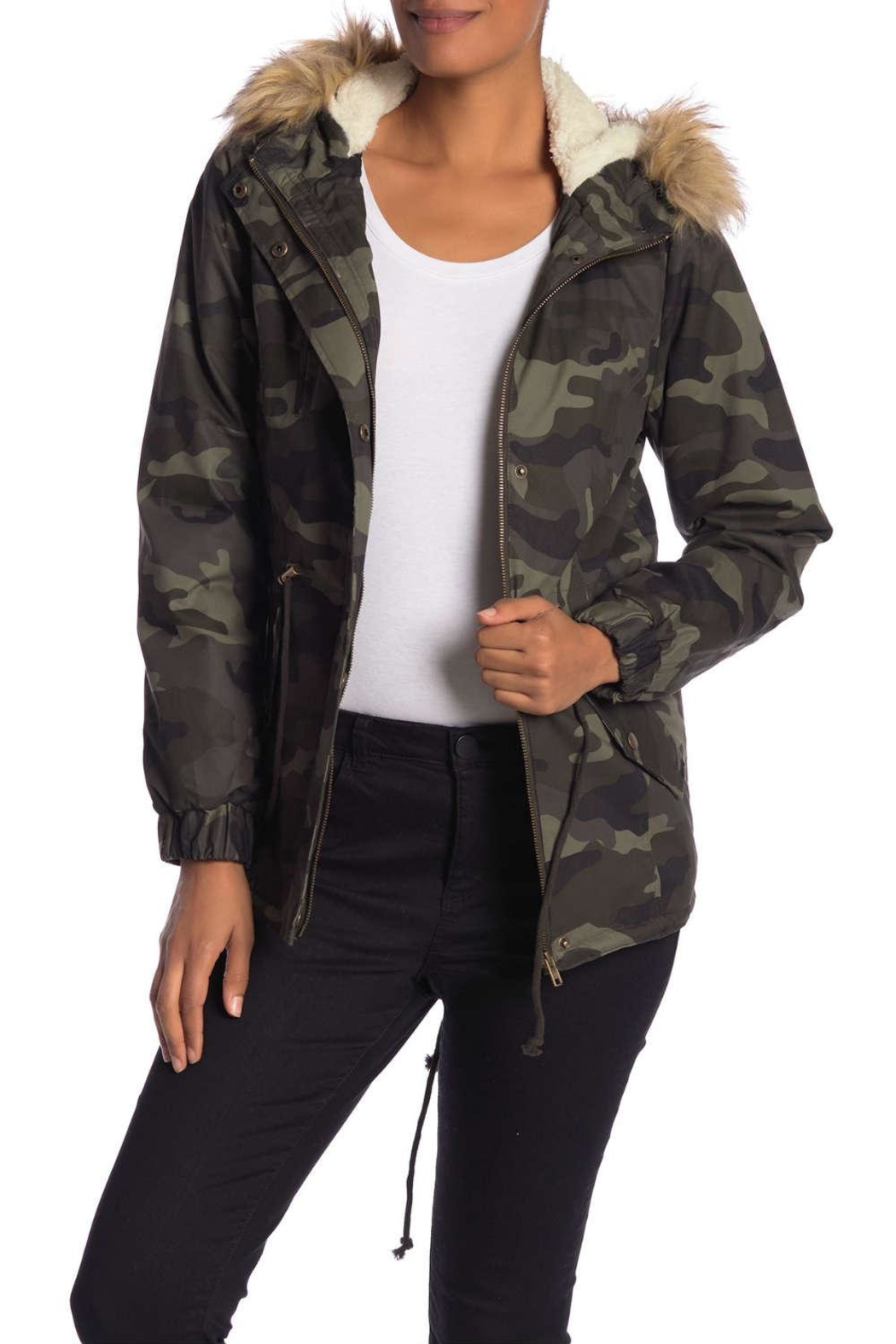 ed686d283 Papillon Camo Sherpa Jacket from Saratoga by Laura M — Shoptiques
